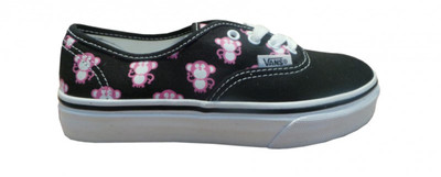 Vans Skateboard Schuhe Authentik Black/Aurora Pink Multi Monkey – Bild 1