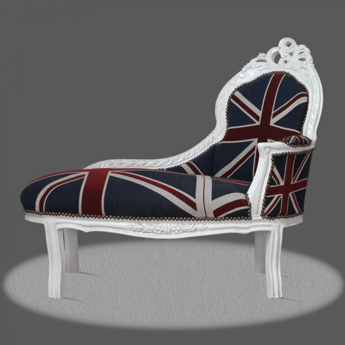 Casa padrino barock kinder chaiselongue union jack wei for Sessel union jack