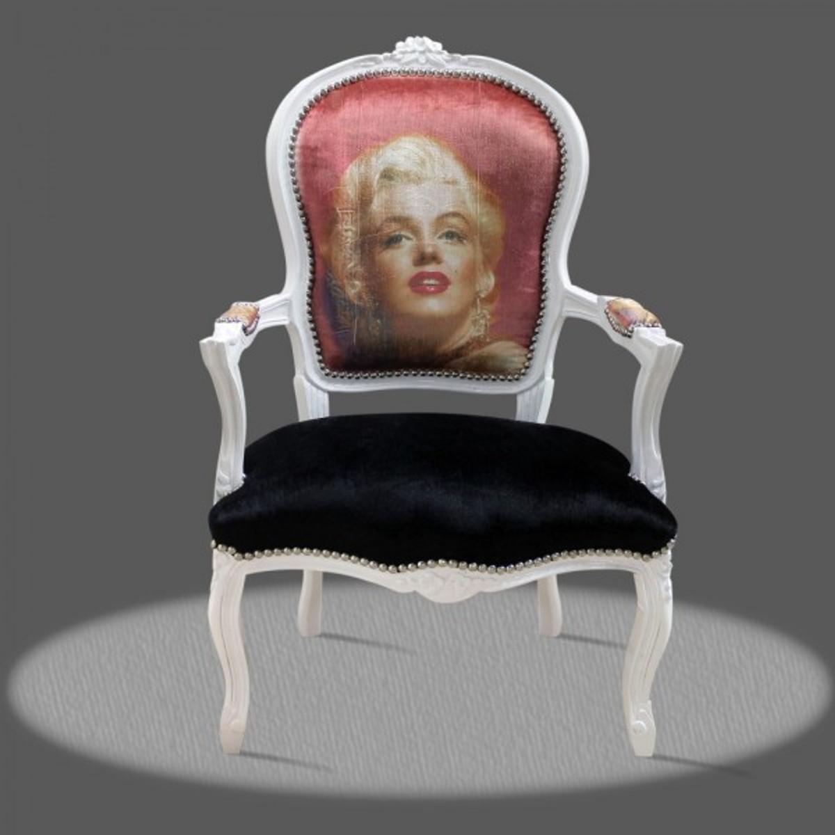 casa padrino barock salon stuhl marilyn monroe barock. Black Bedroom Furniture Sets. Home Design Ideas