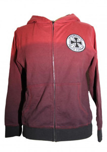 Independent Truck Company Skateboard Hooded Zip Sweater Red – Bild 1