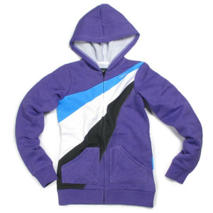 Circa Skateboard Ardnet Zip Fleece Purple/White/Black/Cyan sweater