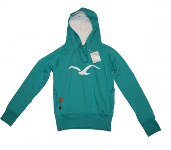 Cleptomanicx Skateboard Simple Seagull Hoody Girls Jade Cyan