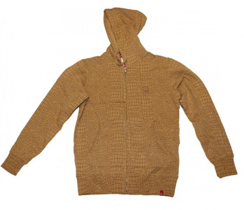 ES  Skateboard Hoodie Zip sweater Hell Brown