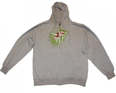 Fallen Skateboard Hoodie Zip Grey Sweater – Bild 1