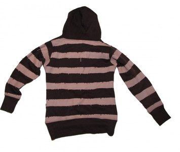 8Mileshigh Skatewear Women´s Hooded Brown/Rose Sweater – Bild 2