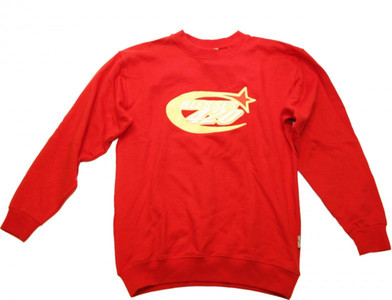 BLESSES Skateboard Sweater Red - Hip Hop Style – Bild 1
