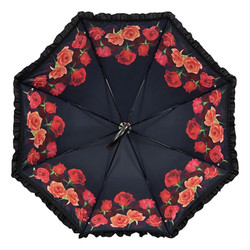 Designer umbrella umbrella design with beautiful red roses - Elegant Umbrella - Luxury Design - Automatic Umbrella Bild 2