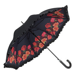 Designer umbrella umbrella design with beautiful red roses - Elegant Umbrella - Luxury Design - Automatic Umbrella