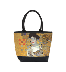 Designer shopper bag with a motif of the important Viennese Art Nouveau painter Gustav Klimt - Elegant Pocket - Luxury Design Bild 1