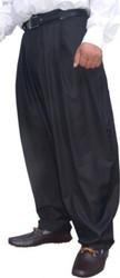Il Padrino Moda luxury pleated pants Black size (EU) 46 - Mafia Obst designer trousers - cut loose