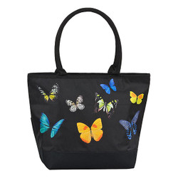 Designer Shopper Tote Bag Butterfly Dance - Elegant Pocket - Luxury Design Bild 1