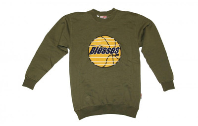 BLESSES Skateboard Sweater Olive - Hip Hop Style