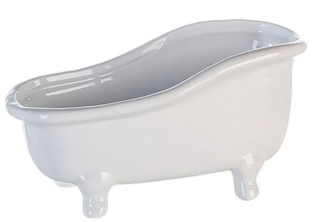 Designer Badewanne aus Keramik weiss Länge 25 cm, Höhe 14 cm   Deko Freistehende Badewanne ...