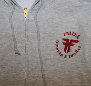 Fallen Skateboard Pullover Hoodie Zip Grey sweater – Bild 2