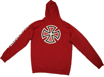 Independent Skateboard Pullover Hooded Red Sweater – Bild 3