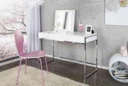 Designer dressing table with mirror  White - Ladies Desk - Secretary console - Ladies console table