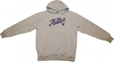 Fallen Skateboard Pullover Hooded Grey/Purple Sweater – Bild 1
