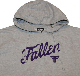 Fallen Skateboard Pullover Hooded Grey/Purple Sweater – Bild 2