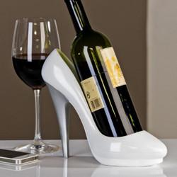 Designer wine rack white heels with silver heel - Wine Rack - Wine holder - bottle holder