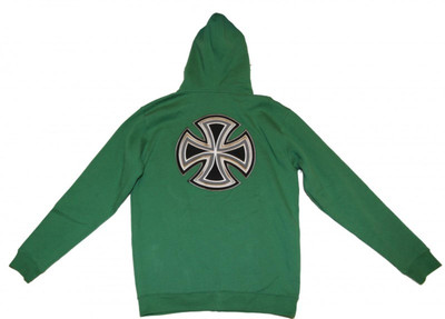 Independent Skateboard Pullover Zip Hood Future Bar Cross Green Sweater – Bild 3