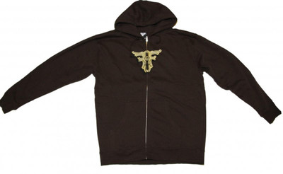 Fallen Skateboard Pullover Zip Hoodie Brown Sweater – Bild 1