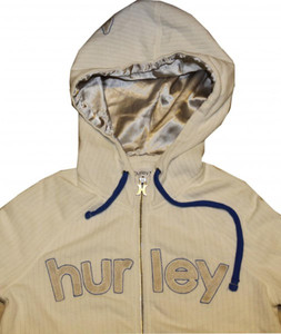 Hurley Skateboard Ladies Pullover Hoodie Zip White/Navy Sweater – Bild 2