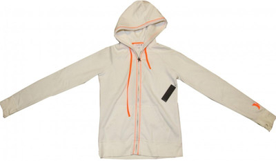Hurley Skateboard Pullover Hoodie Zip Cream/Orange Sweater