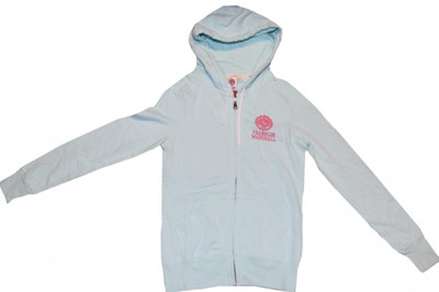 Franklin Marshall Ladies Skateboard Hoodie Zip Sweater Aqua Blue – Bild 1