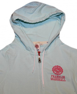 Franklin Marshall Ladies Skateboard Hoodie Zip Sweater Aqua Blue – Bild 2
