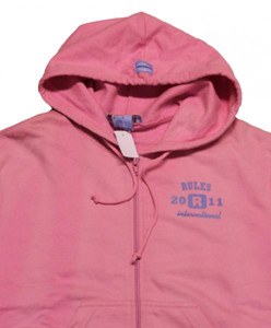 Rules Skatewear Ladies Sweater Zip Hoodie Pink 1 B Goods – Bild 2