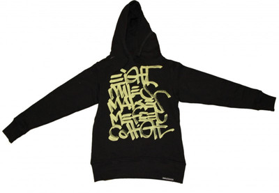 8Mileshigh Skateboard Damen Pullover Basic Hoodie Black/Yellow sweater – Bild 1