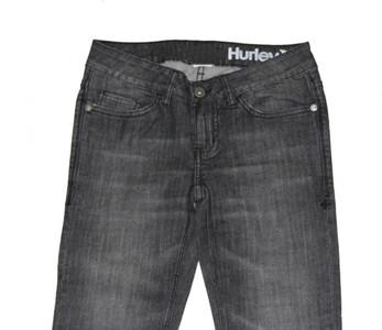 Hurley X Skateboard Ladies Jeans Hose Dark Grey – Bild 2