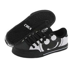 C1RCA Skateboard Schuhe ALK50BWSH Black/White/Super Happy - Circa Kids Shoes