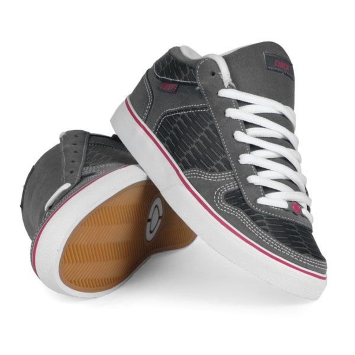 6f725e4d7e Circa 8 Track Skate Shoes Black   Gray   Hot Pink - Circa Shoes – Bild