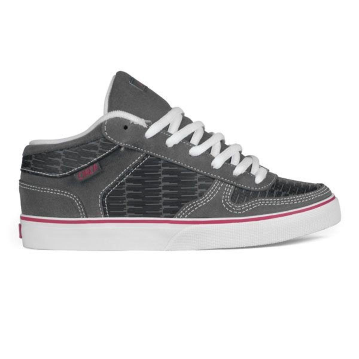 9249497ccd22 Circa 8 Track Skate Shoes Black   Gray   Hot Pink - Circa Shoes – Bild