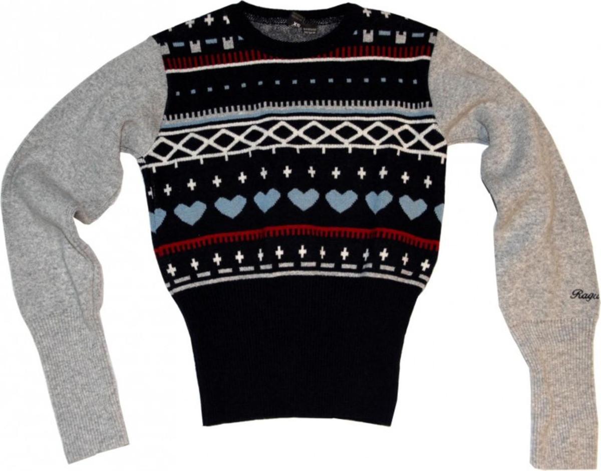 wholesale dealer 1d931 2b8bc Warmer Ragwear Damen Skateboard Winter Pullover Kara Navy/Grey/Red - Wolle