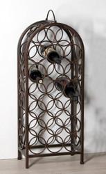 Casa Padrino designer wine rack for 20 bottles metal H 83 cm, W 34 cm - Wine Bottle Holders - Bottle Rack