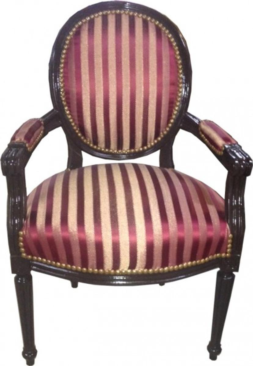 Salon chair bordeaux red purple stripes brown mod 2 for Salon the bordeaux