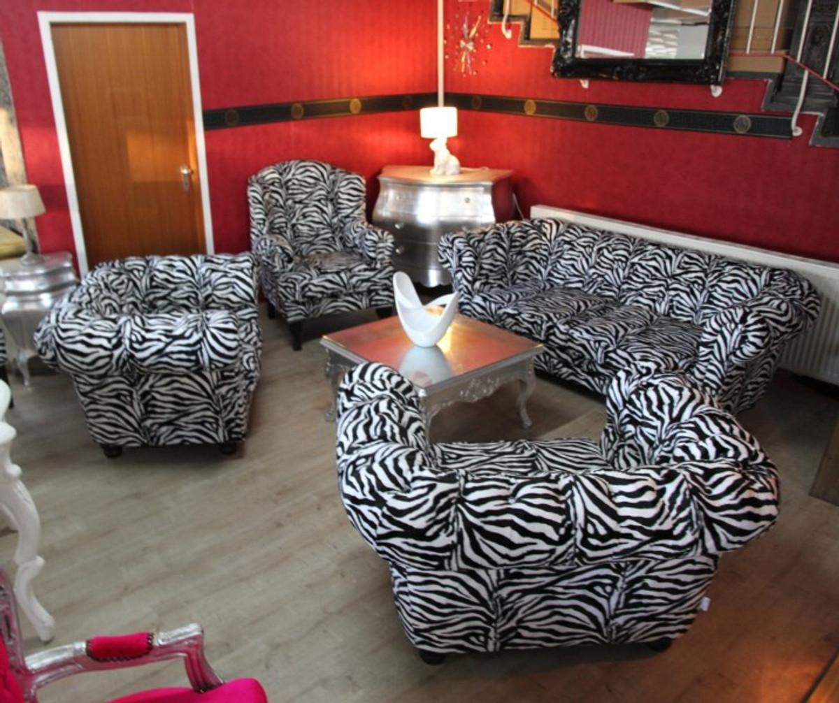 Casa Padrino Designer Chesterfield Wohnzimmer Garnitur