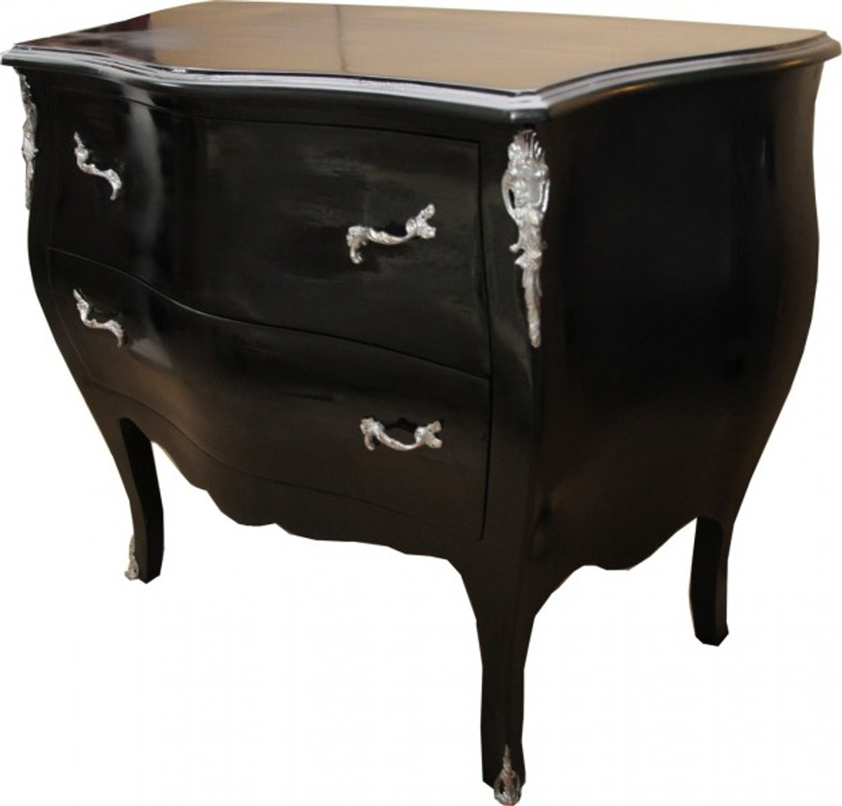 casa padrino barock kommode schwarz 103 cm antik stil m bel kommoden barock kommoden. Black Bedroom Furniture Sets. Home Design Ideas