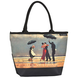 Designer shopper bag with the motif of Scottish artist Jack Vettriano - Elegant case - Luxury Design Bild 1