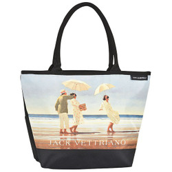 "Designer shopper bag with the motif of Scottish artist Jack Vettriano ""Picnic Party"" - Elegant case - Luxury Design Bild 1"