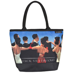 "Designer shopper bag with the motif of Scottish artist Jack Vettriano ""Waltzers"" - Elegant case - Luxury Design Bild 1"
