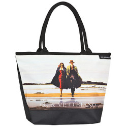 "Designer shopper bag with the motif of Scottish artist Jack Vettriano ""Road to Nowhere"" - Elegant case - Luxury Design"