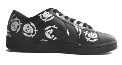 Converse Skateboard Schuhe Pro Leather VR Ox Black / White Skulls Sneaker Sneakers Shoes – Bild 1