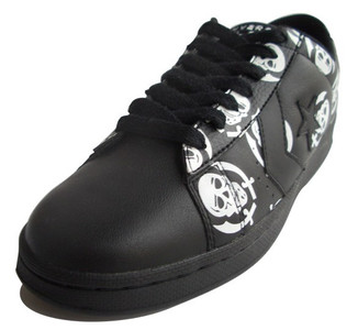 Converse Skateboard Schuhe Pro Leather VR Ox Black / White Skulls Sneaker Sneakers Shoes – Bild 2