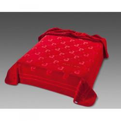 Pierre Cardin Designer Luxury Bedspread velvety 240 x 260 cm Bedroom Blanket Blanket Red NA654