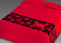 Pierre Cardin Designer Luxury Bedspread velvety 240 x 260 cm Bedroom Blanket Blanket Red NA550