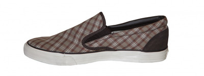 Converse Skateboard Schuhe Skid Grip Ev Slip On Brown/Plaid Shoes – Bild 2