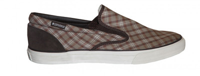 Converse Skateboard Skid Grip Ev Slip On Brown/Plaid Shoes – Bild 1
